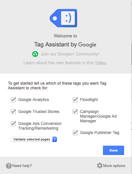 Tag Assistant Google Google Chrome Extension