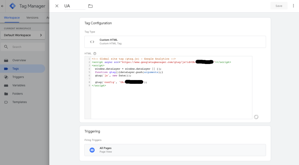 implement Google Analytics with Google Tag Manager